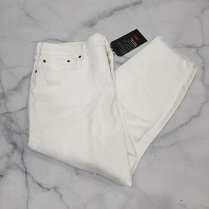 Levi's White High Rise Wedgie Skinny Jeans